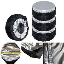 MAHAQI 65x37cm Tire Cover Case Car Spare Storage Bags Carry Tote Polyester For Wheel Protection Covers