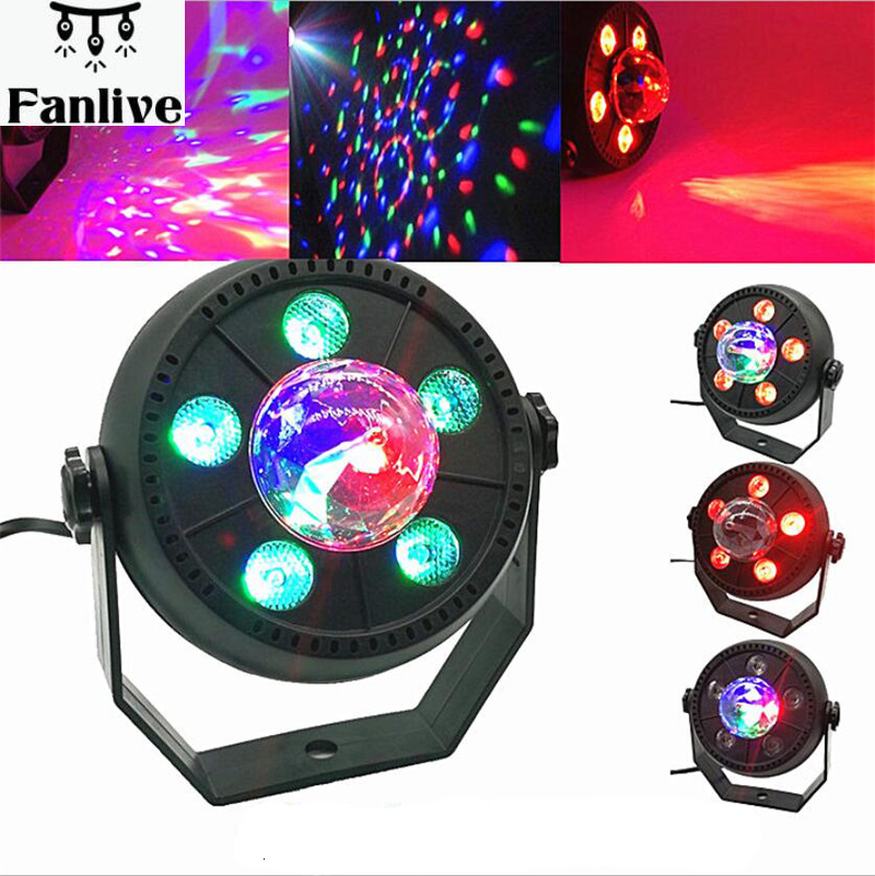 10pcs LED Stage Light 11W RGB Music Sound Activated Automatic Rotating Magic Ball Projector Dancing Party Disco Light For DJ KTV