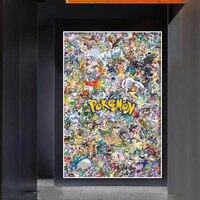 Pokemon Alle Monster Schöne Pikachu Poster Und Drucke Moderne Cartoons Animation Wand Kunst Leinwand Malerei Schlafzimmer Dekoration