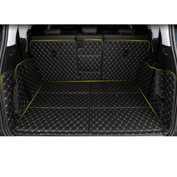 Lsrtw2017 skórzany bagażnik samochodowy Mar mata do wyłożenia podłogi bagażnika dla Peugeot 5008 2019 2020 dywan dywan akcesoria Interioe