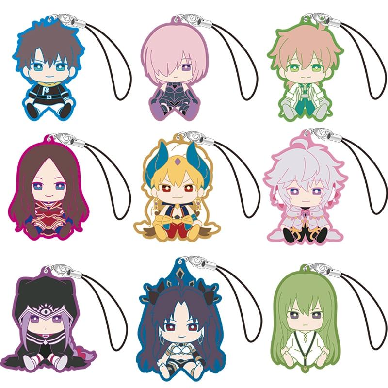 Fate/Grand Order Zettai Majuu Sensen Babylonia Anime FGO Mash Ishtar Romani Enkidu Leonardo Gilgamesh Cute Rubber Keychain