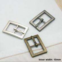 60pcs Fibbia In Metallo gancio bucklet in metallo 10 millimetri scarpe fibbia con pin della lega fibbia della cintura ad alta fibbia lucida bk-038