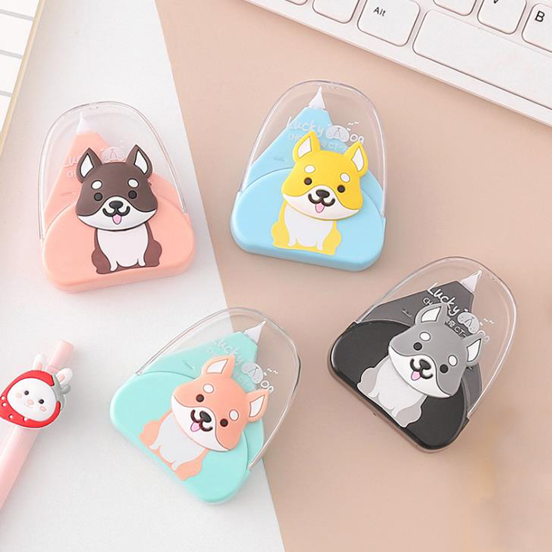 1 Pcs Simple Animal Shiba Dog Correction Tapes Decorative Corrector Tools Stationery Office School Supplies Promotional Gift