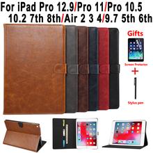 Premium Leather Case for iPad 10.2 7th 8th 2019 2020 Air 2 3 4 3rd 4th Pro 9.7 10.5 11 5th 6th 2017 2018 Smart Tablet Shell