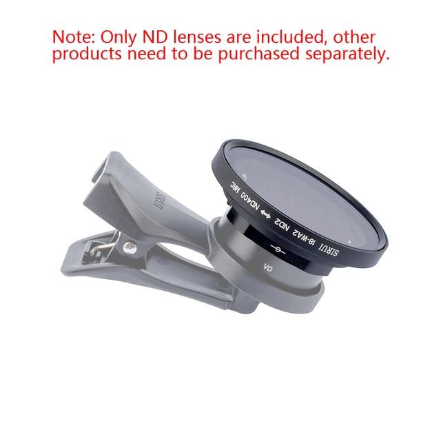 Sirui мобильный телефон Регулируемый ND зеркальный фотофильтр для 18 мм широкоугольный объектив и sirui анаморфный объектив