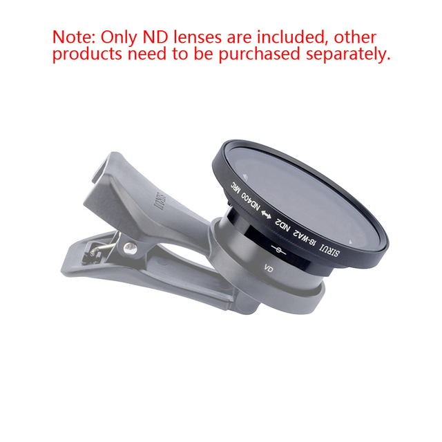 Sirui الهاتف المحمول قابل للتعديل ND مرآة ND2 400 يعتم تصفية ل 18 مللي متر واسعة زاوية عدسة و sirui anamory ic عدسة