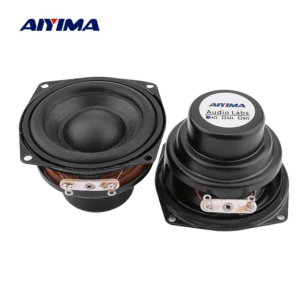 AIYIMA 2 шт. 2-дюймовый Портативный Аудио полный диапазон динамик 4 Ом 10 Вт Неодимовый звуковой динамик драйвер DIY Bluetooth Настольный громкий динам...