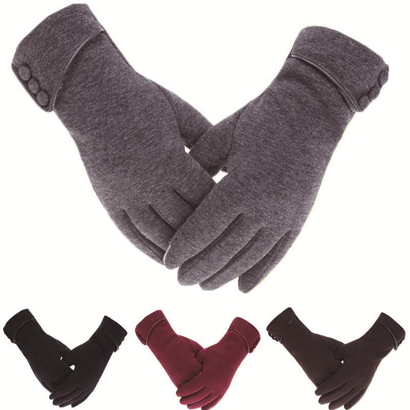 Snow Wool Gloves Knitted Cycling Winter Men//Women Touch Screen Autumn Thick US