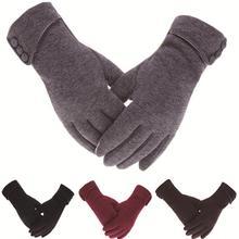Женские зимние перчатки с сенсорным экраном, Осенние теплые перчатки, рукавицы на запястье, водительские лыжные ветрозащитные перчатки luvas guantes handschoenen