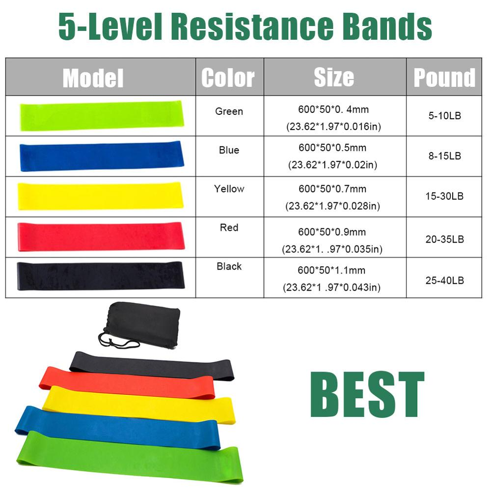 17 Pcs/Set Latex Resistance Bands Crossfit Training Exercise Yoga Tubes Pull Rope,Rubber Expander Elastic Bands Fitness with Bag 3