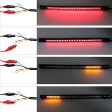 4Pcs Motorcycle Car Tail Turn Signal Brake Stop Light 48 LED SMD Strip Waterproof