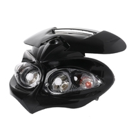 Motocross universal farol carenagem cabeça lâmpada alta/baixo feixe duplo