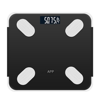 Rechargeable Bluetooth APP Android IOS Smart Human Body Electronic Scale Grease Meter Measure Room Temperature Setting Diet Time|Bathroom Scales|   -