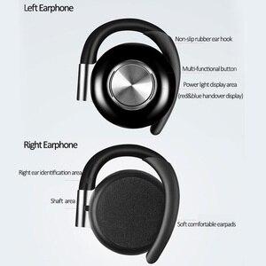 Image 3 - Air V5 TWS Drahtlose Kopfhörer Stereo Bluetooth 5,0 Kopfhörer Ohr Haken Noise Cancelling Bluetooth Headset Mit Mikrofon