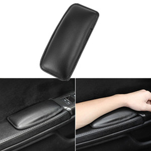 Image 1 - 1pcs 18x8cm Leather Knee Pad Car Interior Pillow Comfortable Elastic Cushion Memory Foam Universal Thigh Support Car Accessories