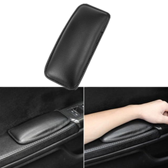 1pcs 18x8cm Leather Knee Pad Car Interior Pillow Comfortable Elastic Cushion Memory Foam Universal Thigh Support Car Accessories