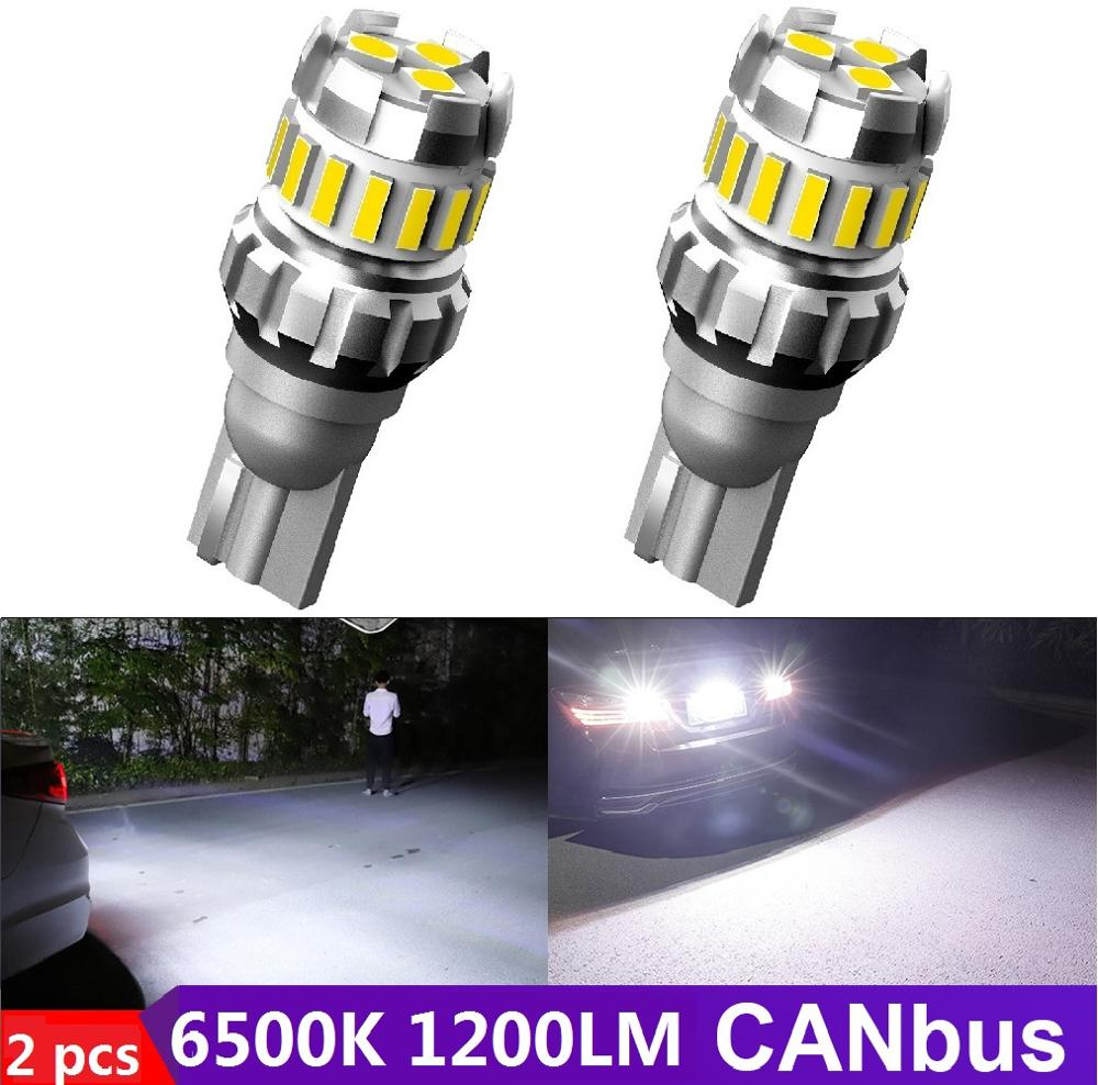 2PCS LED T15 W16W SMD 4014 For <font><b>VW</b></font> POLO <font><b>Golf</b></font> 4 <font><b>5</b></font> 6 7 <font><b>GTI</b></font> Passat B6 B5 Jetta Car Canbus Reversing Lamps Back up Light Reverse Bulb image