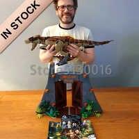 En existencia 11338 la película de parque mundial Jurásico rex Rampage 3508 modelo de Uds. Bloques de construcción juguetes compatibles con juguetes de 75936