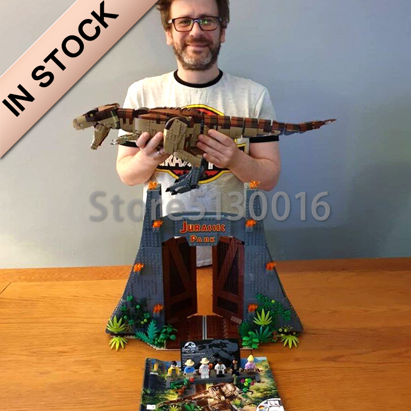 In Stock 11338 The Jurassic World Park Movie Rex Rampage 3508PCS Model Building Blocks Bricks Toys Compatible With 75936 Toys