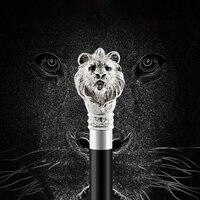 Elegant Gentleman Lion head Snake Skull Umbrella For Men and Women Automatic Long handle Black Not Umbrella Reverse