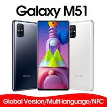 Nova marca samsung galaxy m51 M515F-DSN versão global telefone móvel 128gb rom 6gb ram 6.7