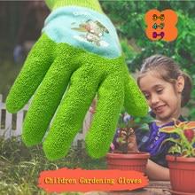 Crianças luvas anti-corte luvas jardinagem capina de trabalho e punctura-prova látex jardim luvas um par mãos proteção
