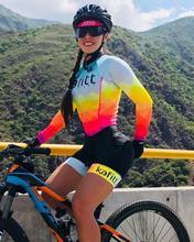 Combinaison de cyclisme d'équipe Pro triathlon à manches longues, en Jersey, avec gel, tenue de cyclisme, modèle 2019