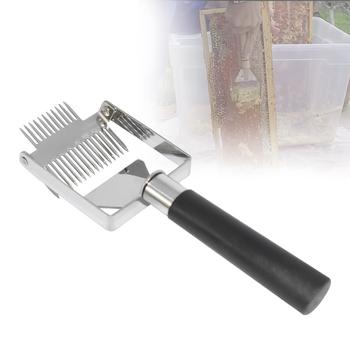 Narzędzia pszczelarskie ula miód cutter Uncapping skrobak plastikowy uchwyt Honeycomb skrobak sprzęt Uncapping nóż widelec łopata tanie i dobre opinie HAIMAITONG CN (pochodzenie) UF18 Stainless Steel + Plastic Approx 23cm x 7 5cm Approx 171g honey cutter Fork beekeeping tool