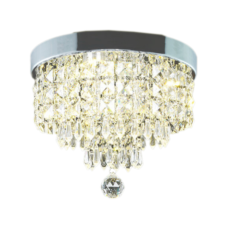 FashionModern Crystal Led Ceiling Light Fixture For Indoor Lamp Surface Mounting Ceiling Lamp For Bedroom Dining Room