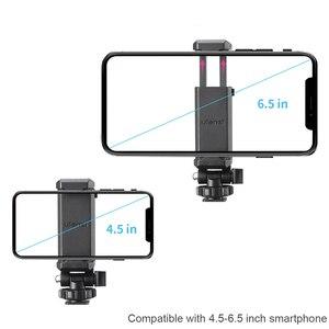 Image 4 - ULANZI 360 Telefone Tripé Flexível Montar Titular da Braçadeira com Sapata Fria para iPhone Samsung DSLR câmera de monitoramento