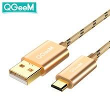 QGeeM – câble Micro USB pour recharge et données, cordon de chargeur pour tablette Android, Xiaomi hua wei, 1m/2m
