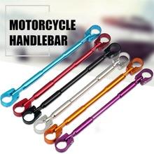 `Franchise Auto Accessories new Motorcycle Handlebar 7/8 Black Bars for Bobber Cruiser Cafe Racer Bike guidon moto