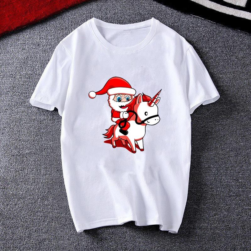 Купить женская футболка с рисунком «merry christmas» белая мопса женская