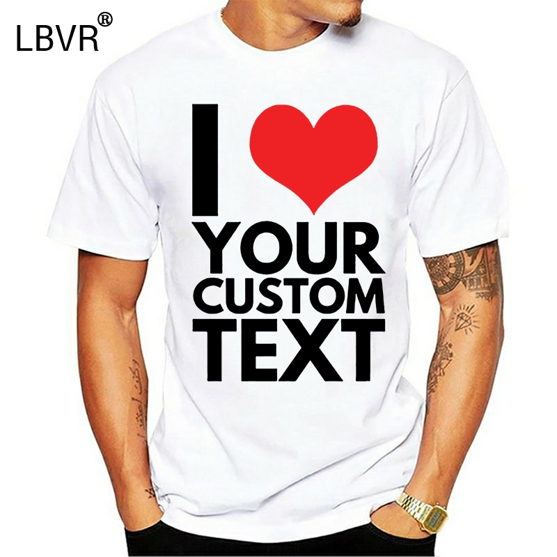 Mens Custom Text T Shirt I Heart Tshirt Personalised Gift Secret Santa Xmas Free Shipping Cheap Tee Fashion Style Men Tee T Shirts Aliexpress