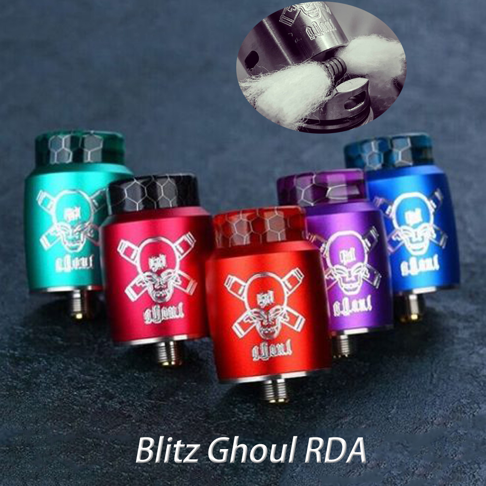 Blitz Ghoul RDA BF Tank With 510 Threading Connection Innovative Single Coil Rebuildable  BF Pin 22mmTank VS Dead Rabbit V2