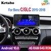 Krtabo odtwarzacz multimedialny Radio samochodowe z androidem 360 widok ptaków dla Benz C GLC W205 X253 2015 2016 2017 2018 Carplay GPS Wifi