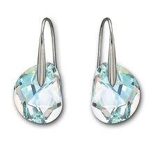 цена High Quality 1:1 Swa Black Rose Golden Crystal Fashion Jewelry with Perforated Earrings and Female Ear Nails2 в интернет-магазинах