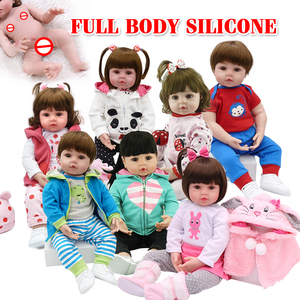 NPK hot selling 48cm Full body silicone reborn toddler baby dolls lifelike soft touch bebe doll water proof bath toy(China)