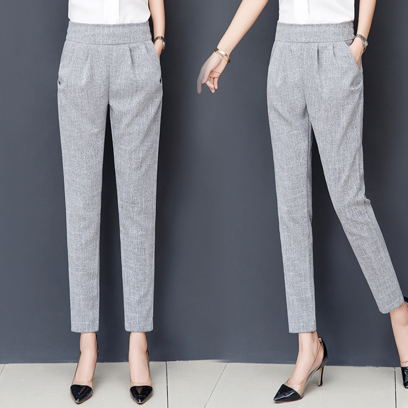 2019 New Women High Quality Long Pants Fashion Casual Ladies Ladies Pants 099
