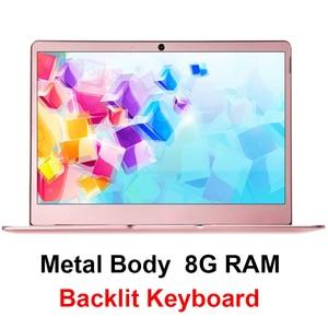 Image 1 - 14 Inch Intel J3455 Windows 10 8GB RAM 128/256GB/512G/1TB SSD Laptop with Backlit Keyboard IPS Display Metal Cover Notebook