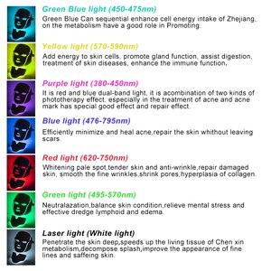 Image 2 - 7 ألوان ضوء LED قناع الوجه مع الرقبة تجديد الجلد العناية بالوجه علاج الجمال مكافحة حب الشباب العلاج تبييض أداة