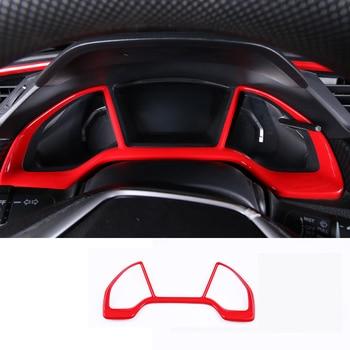 Car Dashboard Trim ABS Carbon Fiber Interior Instrument Panel Decoration Accessories For Honda Civic 2019 2018 2017 2016 фото