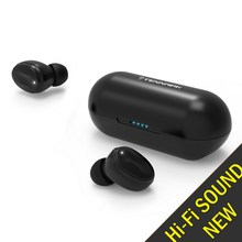 [Ulepszone] TENNMAK prawdziwe bezprzewodowe wkładki douszne TWS06   Bluetooth 5.0 Stereo Hi Fi dźwięk z głęboki bas bezprzewodowe słuchawki