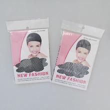 2 шт хорошее качество красивый парик новый черный сетка для