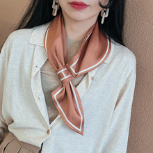 Shawl Collar Scarf Wrap Hair Tie Band Women Elegant Small Vi