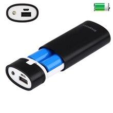 2x18650 bateria portátil 5600mah diy power bank caixa escudo com saída usb & indicador para iphone para samsung sem bateria 5v