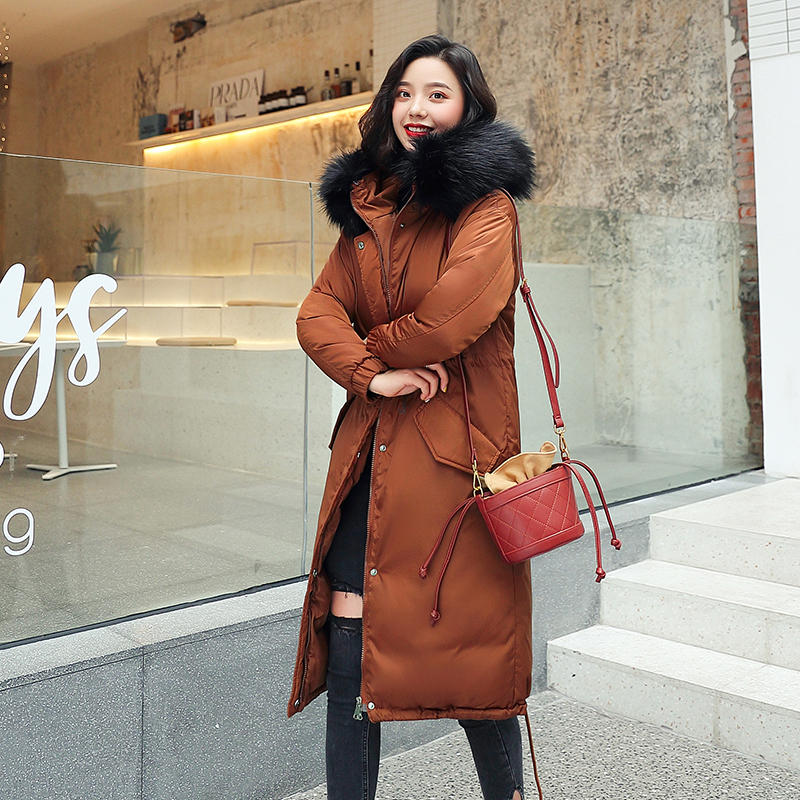 2019 women Long parkas Winter Hooded Big fur collar Thick Coats 30 Degrees Warm Jacket Women Parka Cold Outwear in Parkas from Women 39 s Clothing