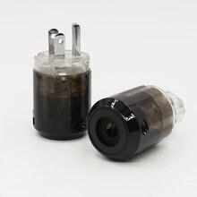Cặp Đôi P004 + C004 Mạ Rhodium Mỹ Cắm Điện Hifi Mỹ Dây Nguồn Cắm + IEC Nữ Cổng Kết Nối