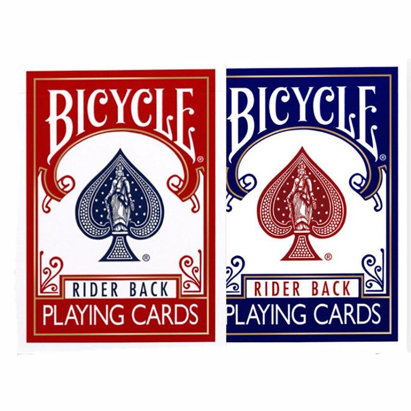 1 pces azul/vermelho original poker regular cartas de jogo piloto volta padrão decks