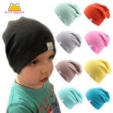 かわいい固体ニット綿帽子スカーフ新生児の女の子のため子供秋冬イヤーマフカラフルな王冠キャップskullies